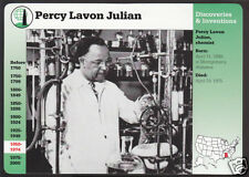 DR. PERCY LAVON JULIAN Chemist Photo Bio GROLIER STORY OF AMERICA CARD