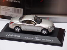 J-COLLECTION LEXUS SC430 CLOSED CONVERTIBLE SILVER 1:43