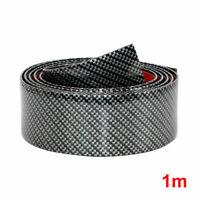 3CMx1M Car Carbon Fiber Rubber Edge Guard Strip Door Access Sill Protector N5D1