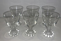 "Set 6 VINTAGE ANCHOR HOCKING BOOPIE GLASS 3-3/4"" Cordial Juice Glasses"