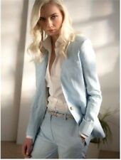 Topshop Premium Blue Tailored Smart 2 Piece Trouser Jacket Blazer Suit 6 to 16