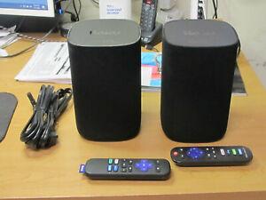 Pair of ONN Model #100002419 - Roku Blast Wireless Surround Sound Speakers