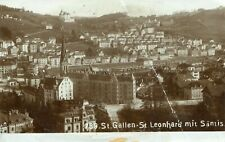 Switzerland St. Gallen - St. Leonhard old real photo sepia postcard