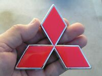 "MITSUBISHI 100mm RED BADGE Express Van Diamond 4"" Emblem *Factory 2nd* Pajero"