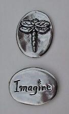 v Imagine dragonfly spirit HANDCRAFTED PEWTER POCKET TOKEN CHARM basic coin