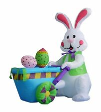 Air Blown Inflatable Bunny Easter Egg Yard Lawn Spring Indoor Outdoor Decoration