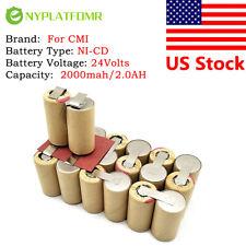 2000mAh 2.0AH For CMI 24V Ni-CD Battery pack 24 Volt electrical tool Battery
