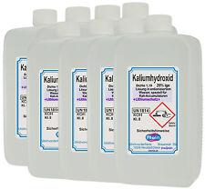 Kali Acculauge 8 x 1 Liter PE-Flaschen mit Lithium Dichte 1,19 Kalilauge 20%