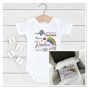 personalised unisex vest after every storm rainbow of hope here baby  gift