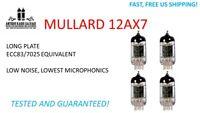 MATCHED QUAD - NEW 12AX7 Mullard Long Plate Vacuum Tubes - Tested and Guaranteed