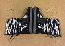 Toms Nepal Boots Size 6.5 US Women's Black Suede Textile Mix Faux Fur Lined $99