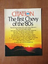 Vintage 1980 Chevy Citation Brochure - Chevrolet - 23 Pages