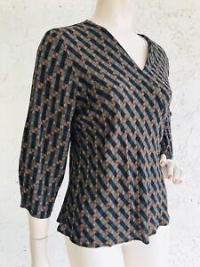ANNE NAMBA Silk Top Asian Art to Wear Size S
