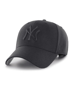 New York Yankees 47 Brand MVP Adjustable Strap Black Out Cap