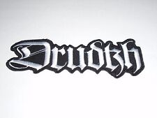 DRUDKH BLACK METAL IRON ON EMBROIDERED PATCH