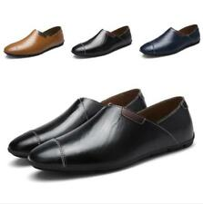 New Mens Pumps+Sandals Hollow out Breathable Flats Slip on Leather Leisure Shoes