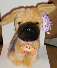 "Battat Plush Dog Puggle W Adoption Tag Collar Comb & Ribbons Pug/Beagle 9"" New"