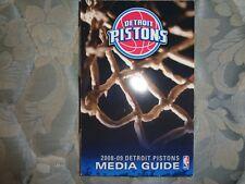 2008-09 DETROIT PISTONS MEDIA GUIDE Yearbook 2009 NBA Program Basketball Book AD