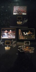 HBK, RIC FLAIR and KANE Signed Wrestlemania and Rumble Film Cell WWF WCW ECW AEW