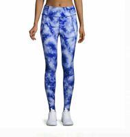 Avia Active Performance Leggings Women's M Tie Dye Blue Spandex Active Pants NEW
