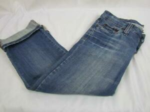 Refuge Cropped Cuffed Jeans Cotton Spandex Jr Sz 3 Inseam =20 Rise =7