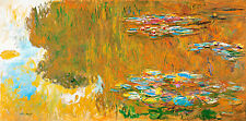 The Water Lily Pond by Claude Monet A1+ High Quality Art Print