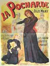 Metal Sign Poster La Pocharde Art Nouveau French Clair Guyot Mystic 1905 A4 12x8