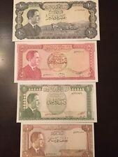 Reproduction Set Jordan King Hussein 1959-1970s Half, 1, 5,10 Dinars Paper Money