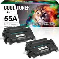 2PK Compatible for HP 55A CE255A Toner Cartridge LaserJet 3011 P3015d 3015n 3016