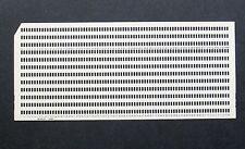 Vintage ALL POSITIONS PUNCHED IBM Card Square / Slash Corner 80 column