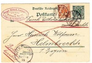 Germany Postal Card-HG:36-uprated Sc#50-LEIPZIG 22/12/99 to HELMBRECHTS