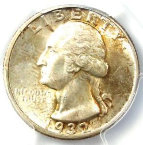 1932-D Washington Quarter 25C Coin - Certified PCGS MS63 (BU UNC) - Rare Date!