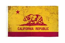 3x5 Red and Gold California State Flag Republic CA Outdoor Garden Banner USA
