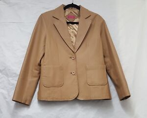 For Women Light Brown Leather Jacket Size 12 Blazer Womens Leather Jacket