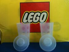 LEGO® Plastic Stackable Storage Cups Containers with Snap On Lids (Lot of 2)