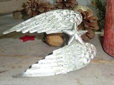 Serviettenring Engelsflügel silber Engel Weihnacht Serviettenhalter Metall Stern