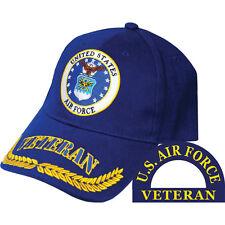 United States Air Force Veteran Hat Wreath Leaf Blue Cap USAF