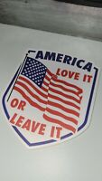 America Love it or Leave It DieCut Sticker Full Color Made In USA