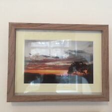 African Safari Sunset Photo Mounted In Frame