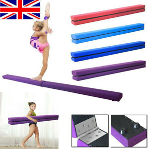 7FT Gymnastics Beam Folding Gym Balance Beam Bar Kids Adult Home Training 2.1M