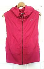 NEW Lorna Jane Activewear Sleeveless Zip Through Running Vest - Hot Pink - Sz M