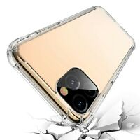Case For iPhone 11 Pro Max Shockproof Soft TPU Transparent Clear Cover AntiKnock