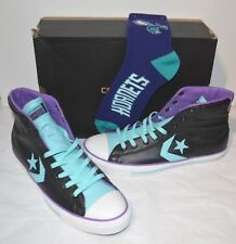 New Converse All-Star Player EV Leather Black/Blue/Purple Charlotte Hornets Sock