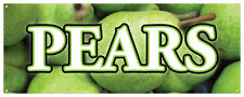 Pears Banner Fresh Fruit Wholesome Organic Green Concession Stand Sign 24x72