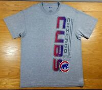 CHICAGO CUBS Baseball MLB Genuine Merchandise Gray T-Shirt Size M Men's Medium