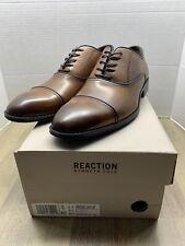 Kenneth Cole Reaction Mens Reggie Oxford Shoes Cognac Cap Toe Lace Up Size 10