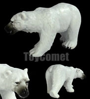 Realistic Polar Bear Wild Animal Figure Solid Plastic Toy Model