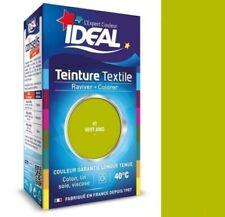 TEINTURE avec FIXATEUR TEXTILE TISSU VERT ANIS IDEAL vetement coton soie