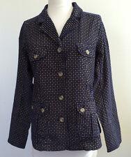 Sundance W's Jacket Sz PM 61488100% Cotton Navy/Yellow check $138.00 NWT
