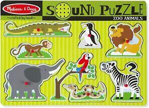 Melissa & Doug - Zoo Animals Sound Puzzle 8pc